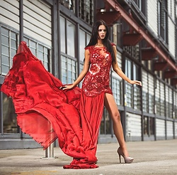 Frida @ www.roxcii.com.au - Roxcii Red Dress - Red Evening Dress
