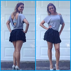 RealRioGirl - Get Rio Boutique Sports Bra, Forever 21 Skirt, Betsey Johnson Shoes - Date Night