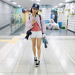 STELLA MA - Vans Shoes, 6ixty 8ight Shorts, Zara Top, Obey Cap - Metro