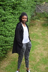 N.EE.H Hamilton - Zara Black Mesh Jacket, Forever 21 White Sports Vest, Vans Black & White, H&M Grey Jogging Bottoms - Work-It-Out