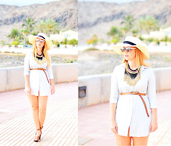 Nery Hdez - Mango Hat, Dior Sunglasses, Choies Dress - By the sea