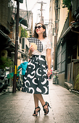 Lindsey Puls - Makemechic Midi Skirt, Macy's Heels, Newchic Top, Polette Sunglasses - What I Wore for an Evening with a Geisha
