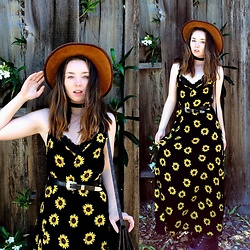 The Indie Girl Fleming - Banggood.Com Sunflower Sun Dress - Sunshine