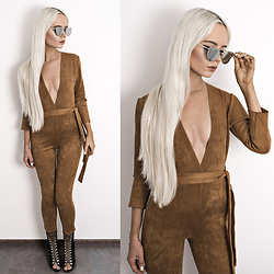 Oksana Orehhova - Oh Polly Jumpsuit - HOT BROWN