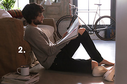 The Idle Man - The Idle Man Crew Neck Sweatshirt In Light Grey, The Idle Man Black Ripped Skinny Jeans, Superga 2754 Cotu Mid Cut Plimsolls White - Chilled Vibes