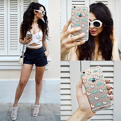 Marina Mavromati - Oliver Goldsmith Sunglasses, Go Case Iphonecase, New Look Shorts - U Is For... Unicorn!