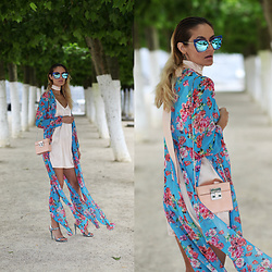 Ruxandra Ioana - Sammydress Dress, Lightinthebox Dress, Zaful Sunglasses, Schutz Sandals - Silk and flowers