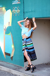 Sabrina Tassini - Missoni Wrap Skirt, Xetra Off Shoulder Top - Wrap skirt and off shoulder top