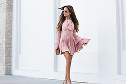 Jessi Malay - Lurelly Bow Tie Silk Dress In Peach - Lurelly #1