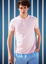 The Idle Man - The Idle Man Pink Polo Shirt, The Idle Man Blue Stripe Swim Shorts - Pink to make the girls wink