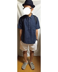 Keysyu Takagi - Uniqlo Hat, Globalwork Shirt, Uniqloandlemaire Shorts, New Balance Shoes - Tomorrow outfit