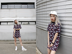 Candy Rosie - Fila Bucket Hat, Fila Dress, Reebok Sneakers - FILA