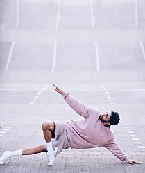 Manij A. - Puma Sweater, Reclaimed Vintage Shorts, Adidas Shoes, Adidas Cap - PINK