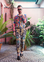 Alberto Degano - Versace Shirt, Versace Pants, Zara Shoes - 14. 7