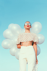 Marta Purriños - Etxart & Panno Blouse, Etxart & Panno Pants - BALLOONS FLY WITH AND MY DREAMS