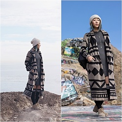 Amy Lai - Rth Beanie, Dtla Fashion District Dress, Choies Socks, Diy Necklace, White Mountain Boots, Steve Madden Backpack - The Sunken City