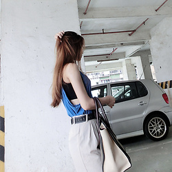 Annabelle Lao - Zara Top, Celine Bag - Long hair dont care