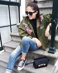 The Day Dreamings - Triwa Sunglasses, Zara Bomber, Converse Shoes, Zara Jeans, Proenza Schouler Bag - Bomber love