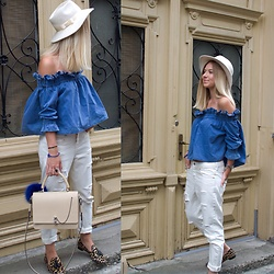The Blonde Bliss - Carven Handbag, Made By The Blonde Bliss Hat, More Details About Look On - Only one call away