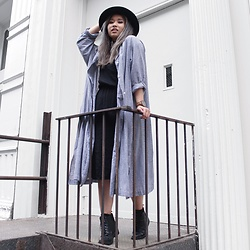 Ingrid Siadari - Urban Outfitters Luke Lace Up, Jord Wood Watches Frankie, Aldo Fedora, Uniqlo Dress Shirt - INTHEGRIDS.COM