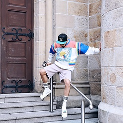 Manij A. - Adidas Cap, Adidas Sweater, Reclaimed Vintage Shorts, Adidas Socks - /// LOVE