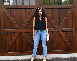 Madison S - 3x1 Fringe Jeans, Topshop Crop Top - Fringe