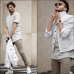 Stilysto By Andrzej S. - Stilysto, H&M, Pepe Jeans London - White - Beige - Denim