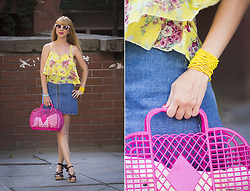 Julia F. - Mango Sunglasses, Wholesalebuying Top, Asos Skirt, New Yorker Bag, Women's Secret Sandals - Colorful & juicy! :)
