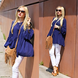 Justyna B. - Blouse, Zara Bag, Givenchy Sunglasses - Boho Vibes