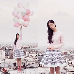 Cissy Zhang - Stylewe Music Note Skirt - Music on the rooftop