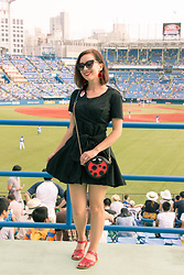 Lindsey Puls - Sheinside Dress, Nila Anthony Purse, Salt Water Sandals, Polette Sunglasses - Take Me Out to the (Japanese) Ball Game