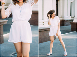 Katerina Lozovaya - Sheinside Playsuit, Sandals - Play for fun!