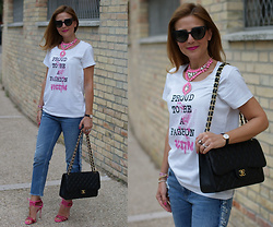 Vale ♥ - Tsof Crew Printed Tee, Chanel 2.55, Le Silla Sandals - Proud to be a fashion victim