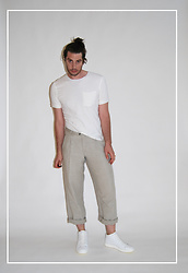 Matthew Reinhold - Aureus Shoes, Dkny Pants, Kit + Ace T Shirt - Inspector Linen