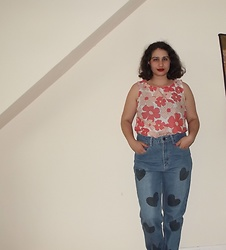 Selina - Self Made Floral Top, Asos Heart Print Jeans - She promised you heaven, will she ever win?