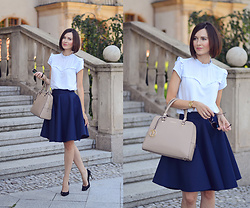 Daisyline . - Zara Heels, Puccini Bag, Mohito Blouse - Black & blue office look