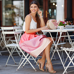Larisa Costea - Chicwish Skirt, Chicwish Top - Sorbet skirt