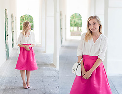 Natalie Savchenko - Adlib Blouse, Dresslink Skirt, New Look White Bag - Summer vibes