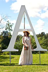 Anna Puzova - Cortefiel Dress, Vintage Bag - Country Feels in Lavender Fields