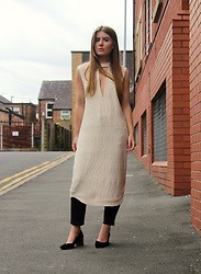 Angharad Jones - Ganni Dress, Asos Jeans, Topshop Shoes - Plunge Neck