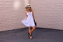 Amber Wilkerson - Urban Outfitters Dress, Nordstrom Hat, Forever 21 Shoes, Sole Society Bag - Lovely Lavender
