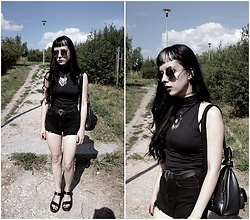 Alice A. - H&M Black Faux Leather Sandals, Black Leather Backpack - And suddenly, I felt nothing.