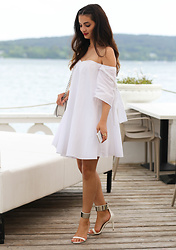 Merna Mariella - Zara Dress, Zara Shoes - Off shoulder balloon dress