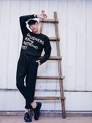 MR.BRIAN SEE - Dkny Sweater, Dior Homme Laced Shoe - XDKNYx