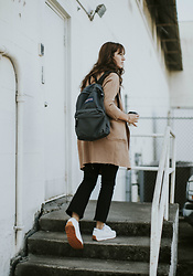 Tonya S. - Jansport Backpack, Blq Basiq Camel Coat, Frame Le Crop Flare, Shoes.Com Reebok Classic - Fall Preview with Jansport