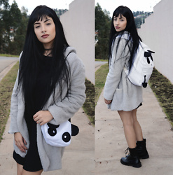 Mayara Pereira - Sammydress Combat Boots, Sammydress Backpack Panda, Sammydress Coat - CUTE PLUSH PANDA