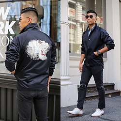 Leo Chan - Marc Jacobs Embroidered Tiger Jacket - Roar - NYFW Men's Day 1
