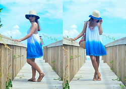 Daphne Verzosa - Thrifted Ombre Dress - Into the Blue