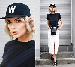 Ebba Zingmark - Woodwood Tee, Woodwood Cap, Topshop Skirt, Bag, Shoes - NORTHEN SOULS
