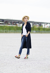 Olga Oktawia - New Look Hat, Zara Top, Medicine Coat, Lee Jeans, Renee Sandals - Pom pons